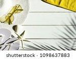summer vacation background of... | Shutterstock . vector #1098637883