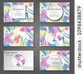 minimal vector covers set.... | Shutterstock .eps vector #1098638879