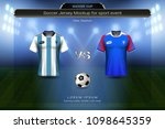 football cup 2018 group d ... | Shutterstock .eps vector #1098645359