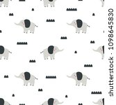 pattern with cute elephant on...   Shutterstock .eps vector #1098645830