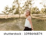 young  attractive and happy...   Shutterstock . vector #1098646874