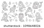 big set of mermaids for... | Shutterstock .eps vector #1098648026