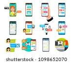 online video  messenger... | Shutterstock .eps vector #1098652070
