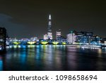 bridges in london and river... | Shutterstock . vector #1098658694