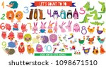 let's count to 10.big set with... | Shutterstock .eps vector #1098671510