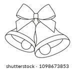 line art black and white two... | Shutterstock .eps vector #1098673853
