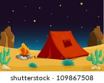 illustration of a tent house... | Shutterstock . vector #109867508