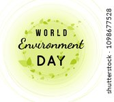 world environment day card with ... | Shutterstock .eps vector #1098677528
