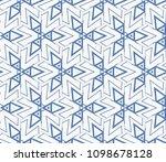 decorative seamless geometric... | Shutterstock .eps vector #1098678128