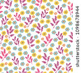 seamless pattern with cute... | Shutterstock .eps vector #1098678944