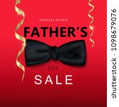fathers day sale. bowtie and... | Shutterstock .eps vector #1098679076