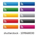 rss buttons. vector available. | Shutterstock . vector #109868030