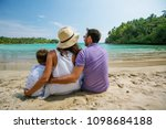 family on vacation at the... | Shutterstock . vector #1098684188