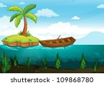 illustration of a plam tree and ... | Shutterstock . vector #109868780