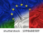 two flags of italy and the... | Shutterstock . vector #1098688589