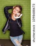 fashion studio hard flash... | Shutterstock . vector #1098688673