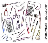 illustrations of various tools... | Shutterstock .eps vector #1098689984