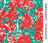 seamless tropical pattern with... | Shutterstock .eps vector #1098691808