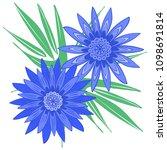 creative flower stylization.... | Shutterstock .eps vector #1098691814