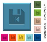 file previous engraved icons on ... | Shutterstock .eps vector #1098699374