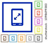 mobile pinch open gesture flat... | Shutterstock .eps vector #1098699383