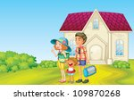 illustration of a family in... | Shutterstock . vector #109870268