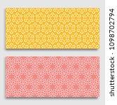 seamless horizontal borders... | Shutterstock .eps vector #1098702794
