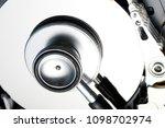 data security concept. hard... | Shutterstock . vector #1098702974