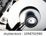 data security concept. hard... | Shutterstock . vector #1098702980