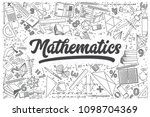 hand drawn mathematics doodle... | Shutterstock .eps vector #1098704369