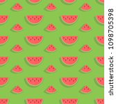 seamless pattern with slices of ... | Shutterstock .eps vector #1098705398