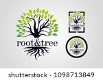 root and tree logo template | Shutterstock .eps vector #1098713849