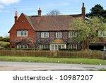 traditional english village...   Shutterstock . vector #10987207