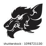 head of the werewolf vector... | Shutterstock .eps vector #1098721130