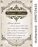 decorative frame in vintage... | Shutterstock .eps vector #1098725633