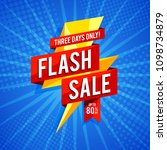 flash sale banner template... | Shutterstock .eps vector #1098734879