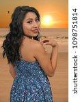 beautiful young hispanic latino ...   Shutterstock . vector #1098751814