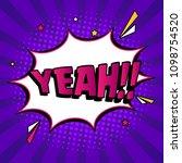 comic book dialog speech bubble ... | Shutterstock .eps vector #1098754520