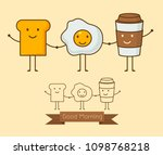 best friends. breakfast. good... | Shutterstock .eps vector #1098768218
