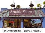 Small photo of Capitola, CA/USA - May 25, 2018: Armida Winery Wine Tasting store in Capitola, CA.