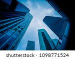 low angle view of skyscrapers... | Shutterstock . vector #1098771524