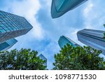 low angle view of skyscrapers... | Shutterstock . vector #1098771530