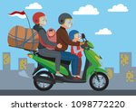 mudik  or pulang kampung  is an ... | Shutterstock .eps vector #1098772220