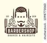 vintage barbershop logo... | Shutterstock .eps vector #1098773060
