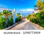 bodrum street view in turkey | Shutterstock . vector #1098773909