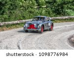 Small photo of PESARO COLLE SAN BARTOLO , ITALY - MAY 17 - 2018 : ASTON MARTIN DB 2 VANTAGE 1951 old racing car in rally Mille Miglia 2018 the famous italian historical race (1927-1957)