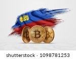 crypto currency  gold coin... | Shutterstock . vector #1098781253