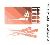 match box  icon. flat color...