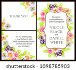 invitation with floral... | Shutterstock .eps vector #1098785903
