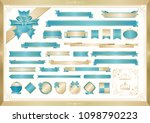 formal ribbon vector set | Shutterstock .eps vector #1098790223